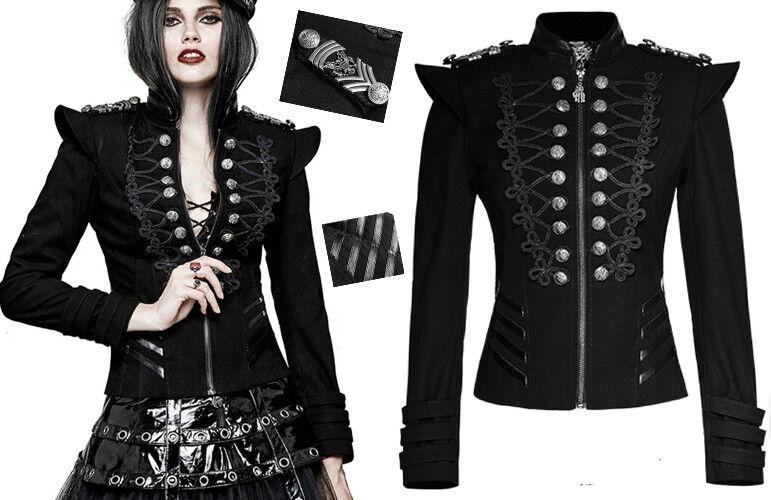 Offizier Jacke Gothic Lolita Militär Stickerei Streifen Rüstung Trend PunkRave