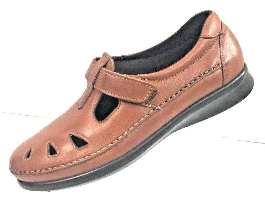 SAS Women's Tri-Pad Comfort Roamer Chestnut Leather USA Loafers shoes Size 8N