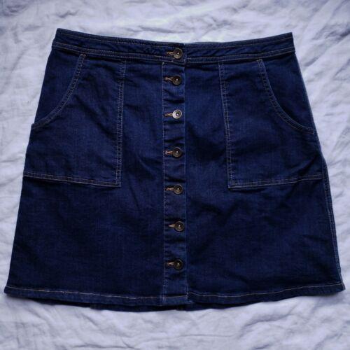Bass Womens Blue Denim Skirt Size 10 Button Front… - image 1