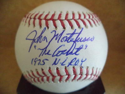 "Baseball-mlb Baseball W/coa Smoothing Circulation And Stopping Pains John Montefusco ""the Count"" 1975 Nl Roy Signed Autographed M.l Balls"