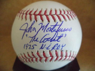 "John Montefusco ""the Count"" 1975 Nl Roy Signed Autographed M.l Balls Baseball W/coa Smoothing Circulation And Stopping Pains"