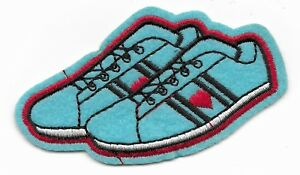 f8f34e7ed46d6 Details about Blue sneakers vaporwave trainers embroidered iron or sew on  patch