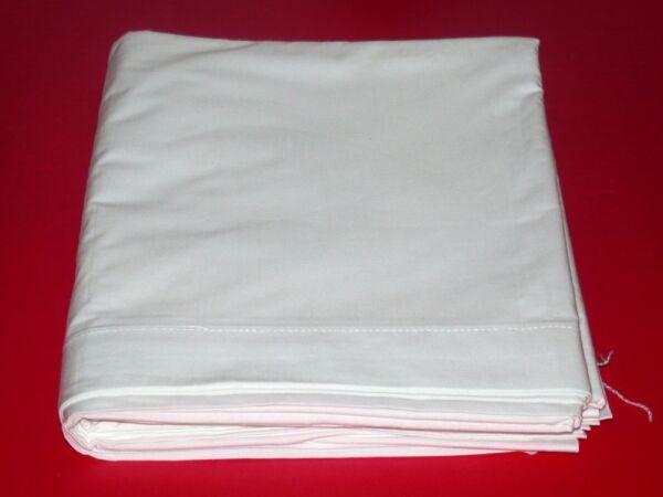 "(1) Percale Sheet ~ Full Flat 80"" X 98"" ~ White **new** Sterke Weerstand Tegen Hitte En Hard Dragen"