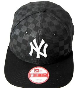 e92beaf7b8b Image is loading NY-New-Era-Snapback-caps-950-black-flat-