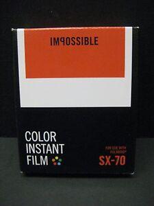 Impossible SX 70 Color Film polaroid SX-70 Cameras 1 pack of film