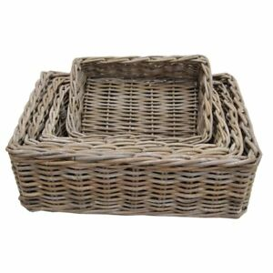 Kubo-Buff-Grey-Rectangular-Storage-Baskets-Kitchen-Home-Bedrooms-Hampers-4-sizes