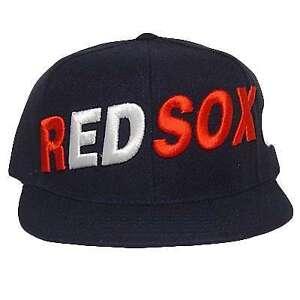 MLB BOSTON RED SOX FLAT BILL HAT CAP NAVY SIZE 8 883768405030  475eee3c52f