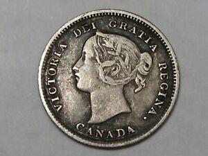 Better-Grade-1892-Silver-Canadian-5-Cent-Coin-Queen-Victoria-43