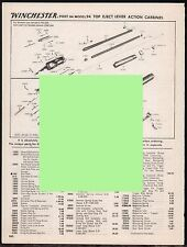 1994 Winchester Post-1964 Model 94 Carbine Schematic Exploded Parts List Ad
