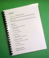 Laser Printed Sony Dsc Rx100m3 Full Camera 214 Page Owners Manual Guide