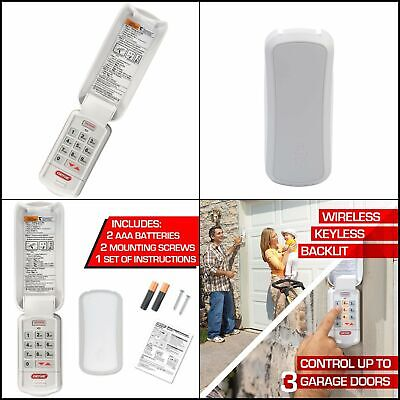 Model GK-R 2 Pack Compatible with All Genie Intellicode Garage Door Openers Safe /& Secure Access Genie Garage Door Opener Wireless Keyless Keypad Easy Entry into the Garage With a PIN
