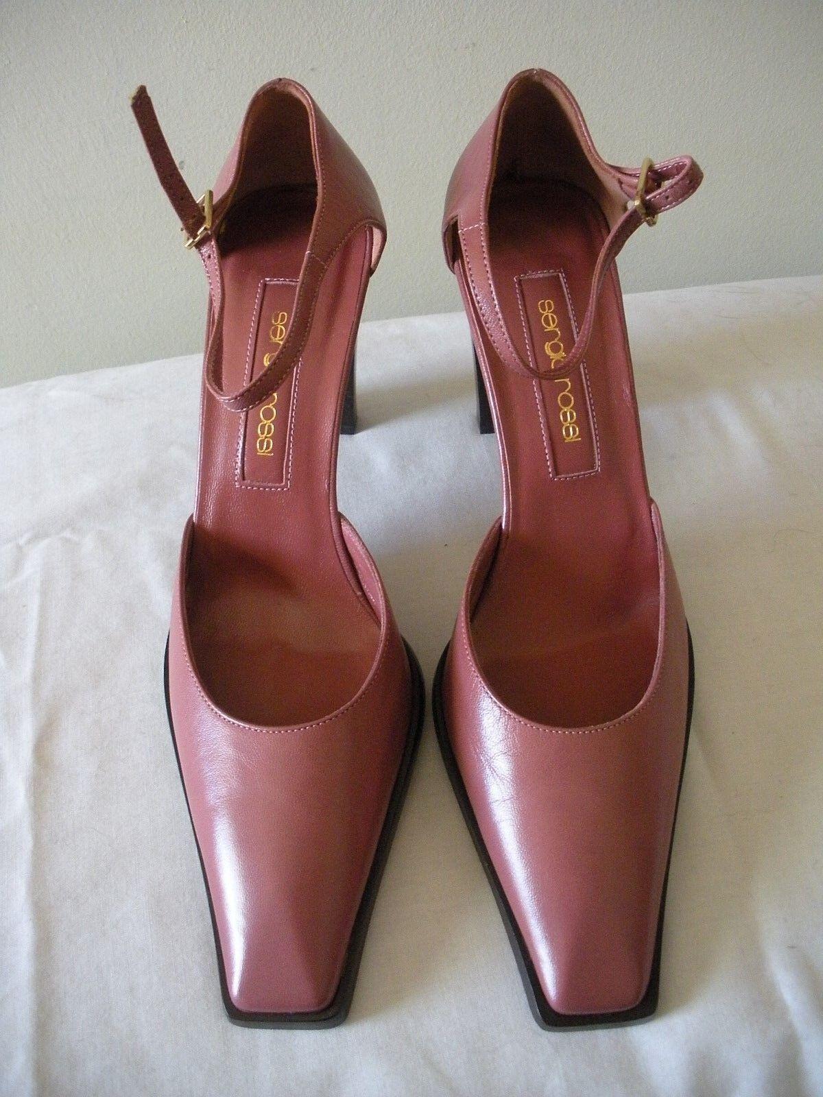 SEXY NIB  530 SERGIO Ankle ROSSI Rosa Rosa Leather Ankle SERGIO Strap schuhe ITALY 36.5M 2143ad