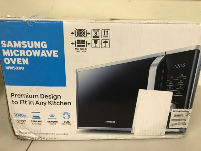 Samsung MS11K3000AS Countertop Microwave Oven dented see photos