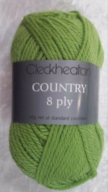 Cleckheaton Country #2329 Lawn Green 100% Pure Wool 8 Ply