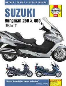 haynes 4909 service repair owners manual suzuki burgman 250 400 rh ebay co uk suzuki burgman 400 owners manual pdf download suzuki drz 400 owners manual pdf