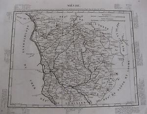 1835-Carte-Atlas-Geographique-France-Departement-Nievre-Nevers-Bourgogne