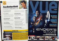 VUE FILM CINEMA MAGAZINE - ENDER'S GAME HARRISON FORD ASA BUTTERFIELD etc