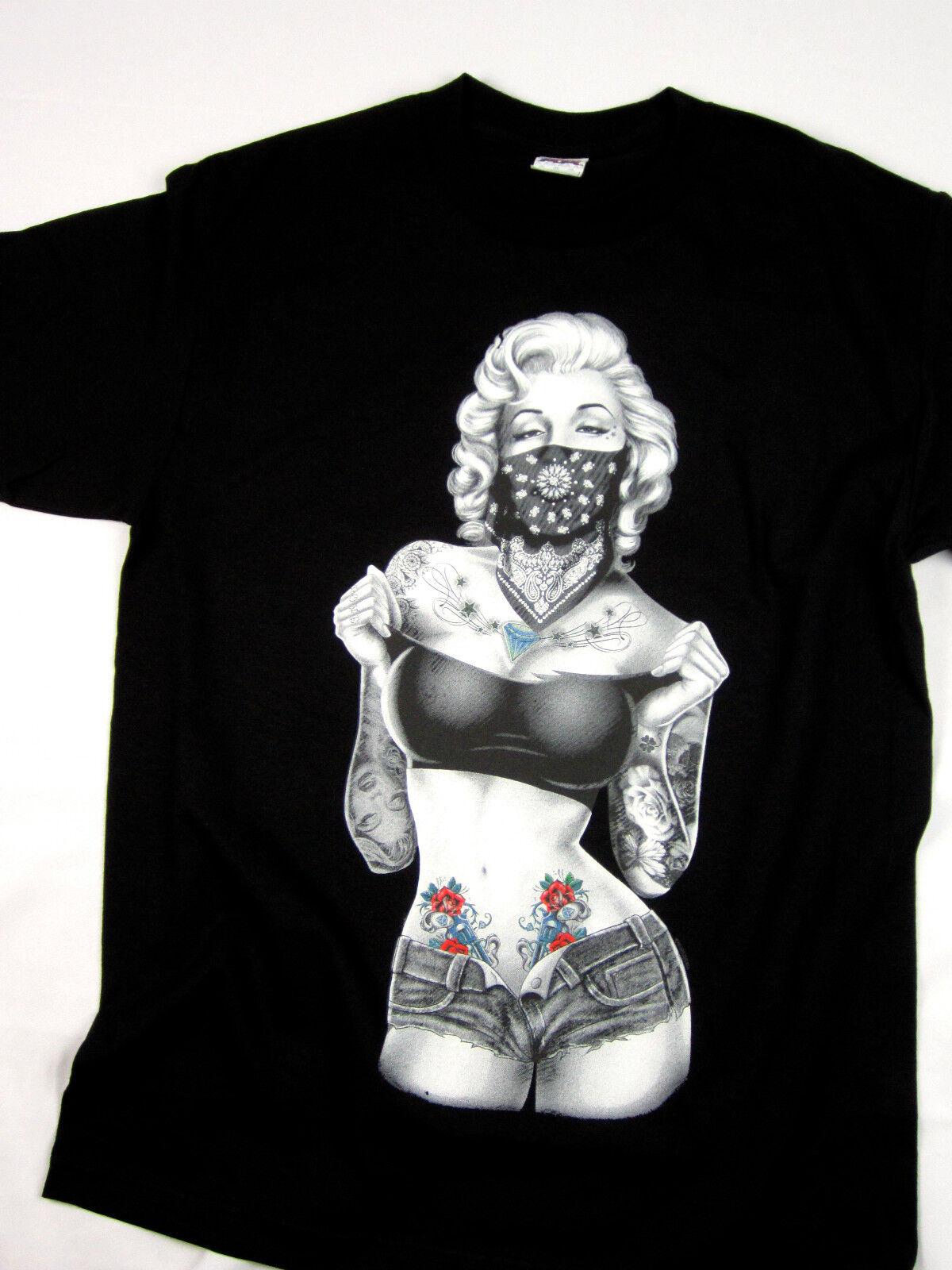 Marilyn Monroe Tattoo Gangster Men/'s Tank Top Brand New Quality Shirts