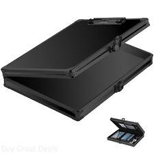 Vaultz Briefcase Aluminum Locking Storage Clipboard Hard Solid Paper Case Black