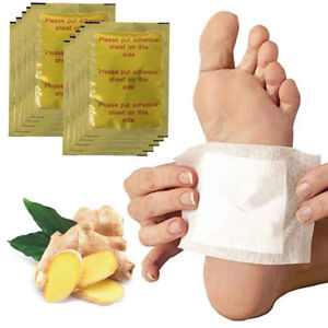 10X-foot-detox-Adesivo-Pad-Ginger-sale-estratto-Tossina-Rimozione-perdita-di-peso-PATC-ZT