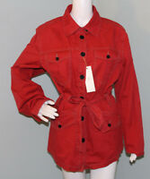 Womens Christopher Blue Red Button & Tie taylor Jacket Size Xl Extra Large