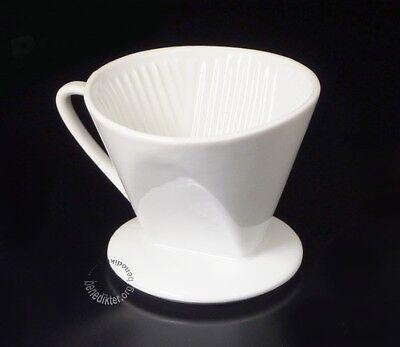 KAFFEEFILTER PORZELLAN 1x4 Kaffeehalter KAFFEEBEREITER Kaffee-Filtertütenhalter