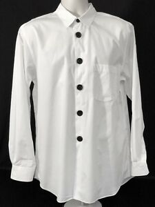COMME-des-GARCONS-HOMME-PLUS-White-Button-Up-Dress-Shirt-CDG-NWOT