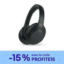 Sony WH-1000XM4 Casque sans fil à réduction de bruit - Noir