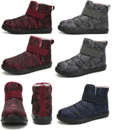 Mens Womens Winter Waterproof Snow Boots Outdoor Non-slip Boot Warm Cotton Shoes