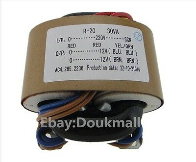 115V / 230V 30W R-Core power Transformer 12V+12V  X-Former