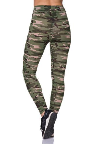 Running Yoga Women/'s Camouflage Fitness High waist Army Print FZ128 Workout