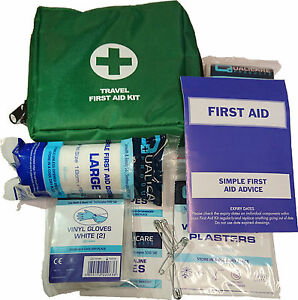 Qualicare-Travel-Kit-1Person-Small-Car-Bag-Pouch-Camping-Emergency-First-Aid-Kit