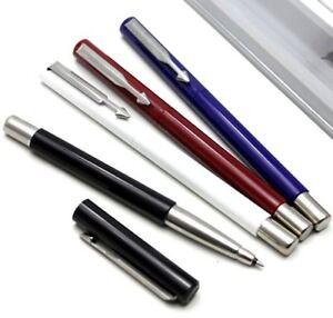 Red Black Blue Steel White Parker Jotter Rollerball Pen