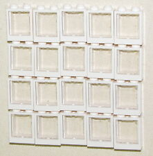 LEGO LOT OF 20 NEW 1 X 2 X 2 WHITE WINDOWS WITH GLASS TOWN HOUSE TRAIN PIECES