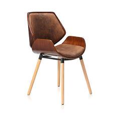 Design Stuhl Retro Büro Hocker Esszimmerstuhl Vintage Bürostuhl Kunstleder Neu