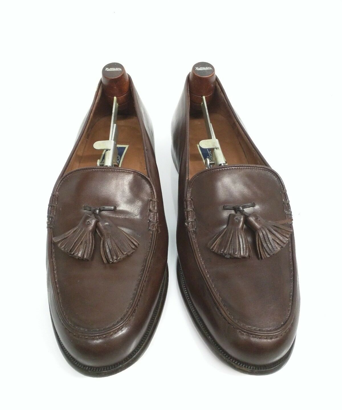 9ecc84ca3ef Bragano Cole Haan Mens Penny Loafers 11 M Brown Lamb Leather Made in shoes