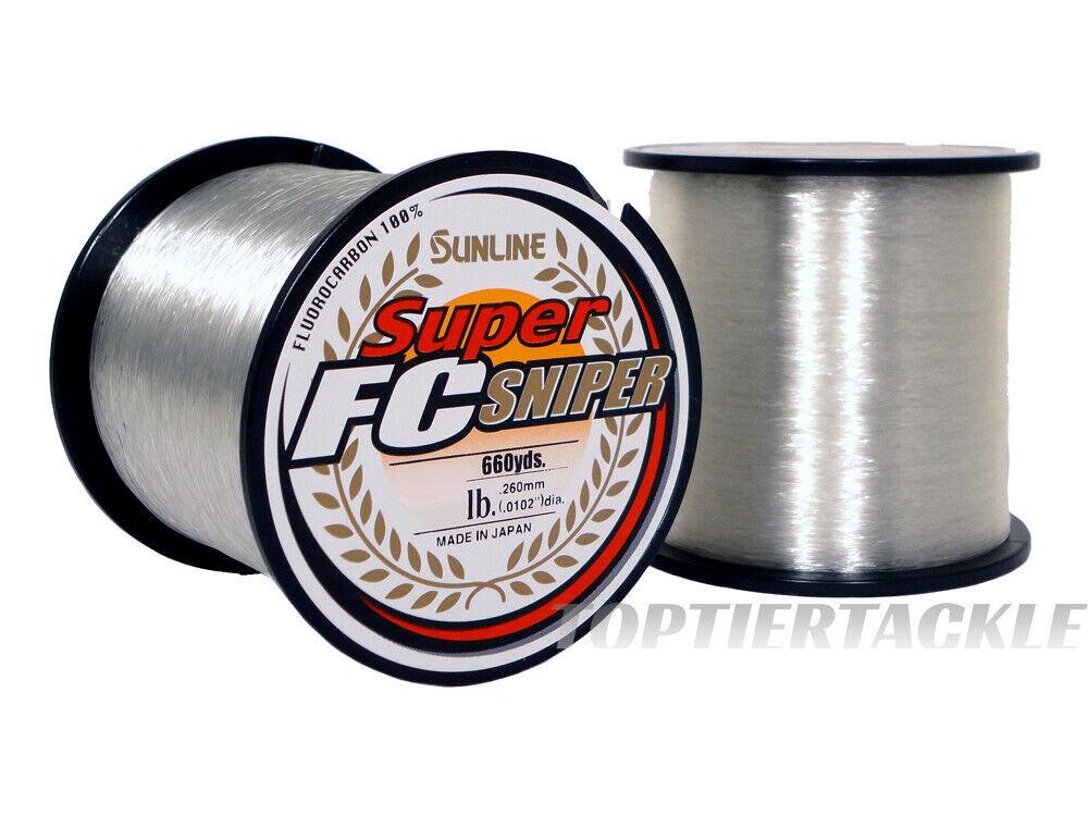 Sunline Super FC Sniper FluGoldcarbon 660 Yard  Spool - Select Lb. Test
