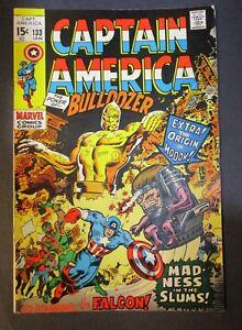 Marvel-Comics-Captain-America-133-BULLDOZER-1970-Vintage-Old-Comic-Book