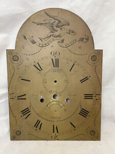 Antique Longcase Clock Face. George Tracker Breage Cornwall