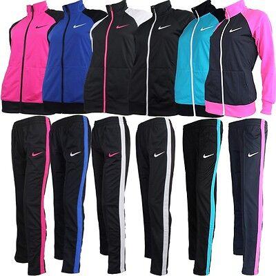 Nike RAGLAN WARM UP women's track suit black white pink NEW