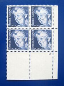 Sc-2105-Plate-Block-20-cent-Eleanor-Roosevelt-Issue