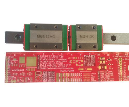 MGN12 12mm Linear Rail Guide Slide CNC 500 750 mm 500mm 50cm 75cm 750mm USA MG12