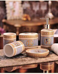 Luxury Euro Wedding Hotel Bathroom Soap Dispenser Toothbrush Holder Soap Dish