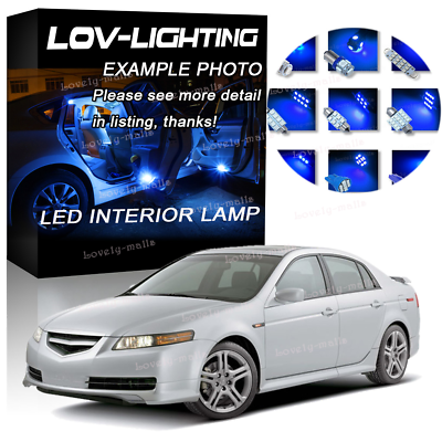 Blue Smd Car Bulb Light Interior Led Package Kit For Acura