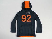 Abercrombie & Fitch Kids Boy's A&f Active 92 Hoodie Navy/orange Hm7 Size 5/6