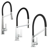 Milano Monobloc Kitchen Sink Basin Mixer Tap with Flexible Pull Out Spray Rinser
