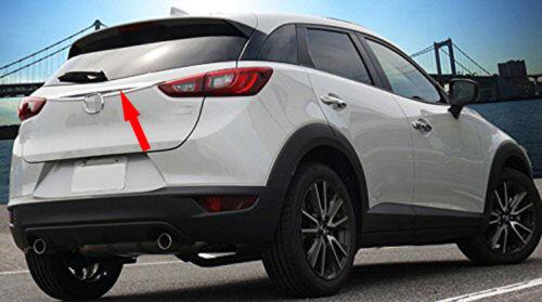 1pcs Chrome Rear Trunk Lid Middle Moulding Cover Trim fits 2016-2019 Mazda CX-3