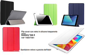 FLIP-COVER-Custodia-per-SAMSUNG-Galaxy-TAB-E-9-6-034-T560-T561-SMART-Fronte-Retro