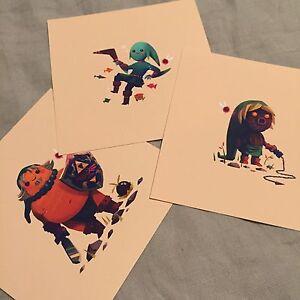 olly moss legend of zelda majoras mask 5x5 limited edition prints