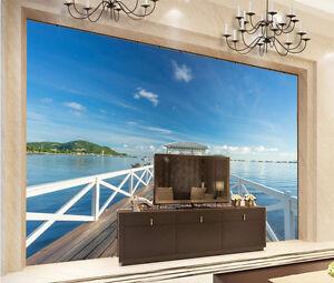 3d Couloir Mer 79 Photo Papier Peint En Autocollant Murale Plafond Chambre Art
